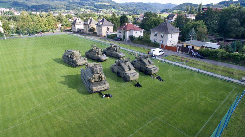 inflatable military tactical decoys SA-8