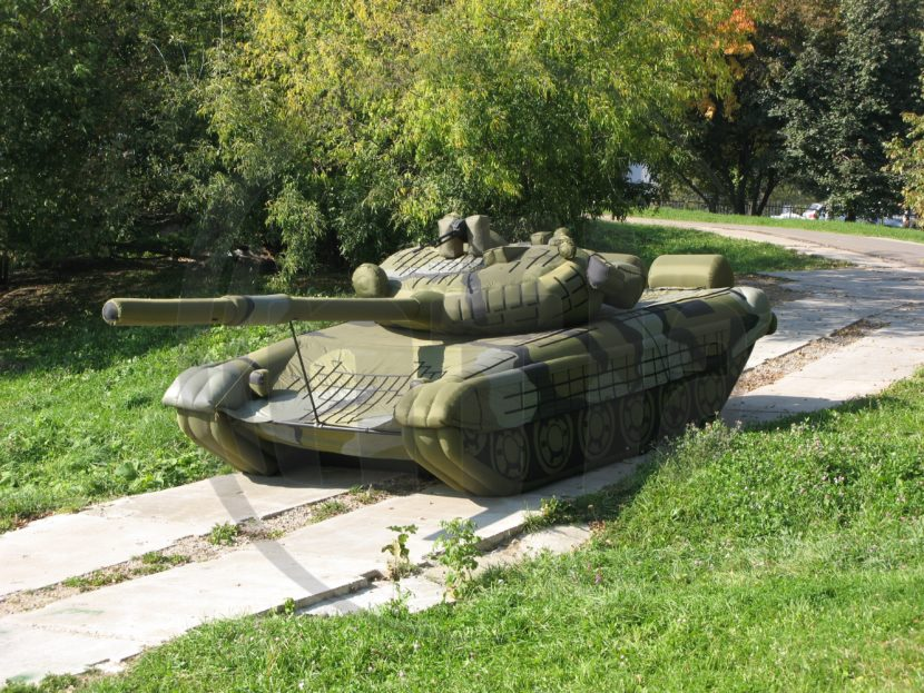 inflatable tank military decoy